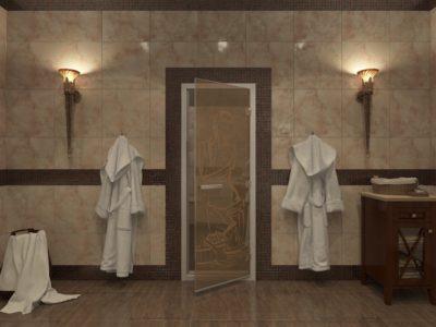 Стеклянные двери для хамама от 14 000 руб!